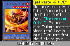 Yu-Gi-Oh! GX - Duel Academy - Character Profile  - Legendary Flame Lord. - User Screenshot