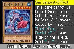 Yu-Gi-Oh! GX - Duel Academy - Character Profile  - Ocean Dragon Lord. - User Screenshot