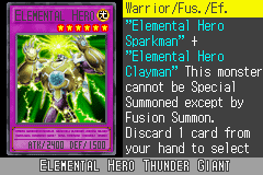 Yu-Gi-Oh! GX - Duel Academy - Character Profile  - Elemental Hero Thunder Giant. - User Screenshot