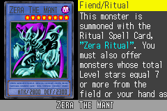Yu-Gi-Oh! GX - Duel Academy - Character Profile  - Zera The Mant. - User Screenshot