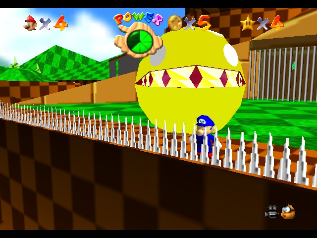 Super Sonic 64 - Misc Pac-Man - Pac-Man eh? - User Screenshot