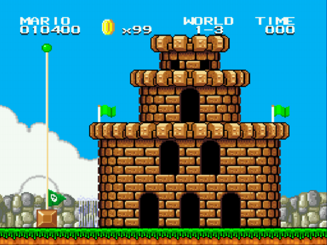 Super Mario Bros II 1998 (hack) - Level World 1-3 - Just one more coin and then a 1UP! - User Screenshot