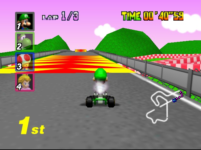 Mario Kart 64 - Level Royal Raceway - Uh oh... - User Screenshot