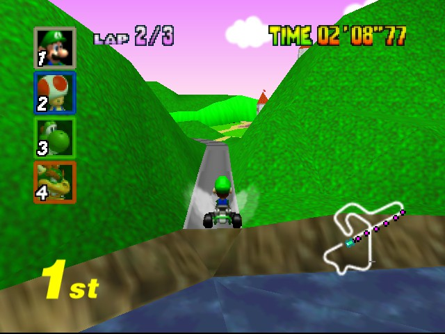 Mario Kart 64 - Level Royal Raceway - WHEEEE! - User Screenshot
