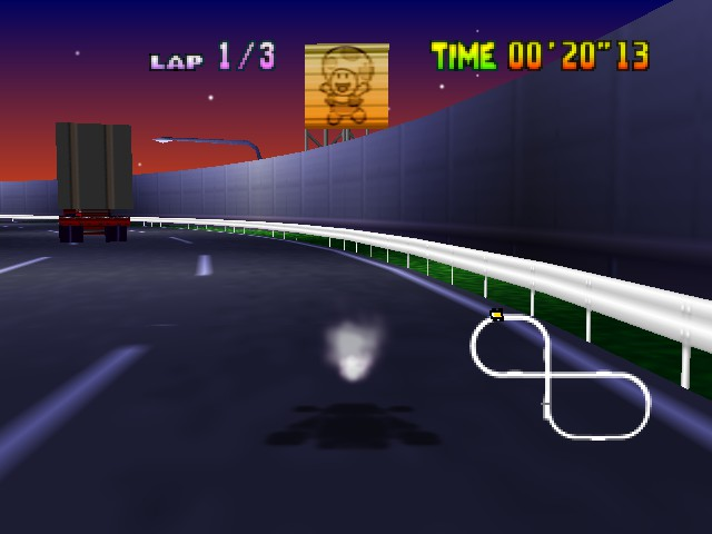 Mario Kart 64 - Level Toad\ - Wario is still invisible... - User Screenshot