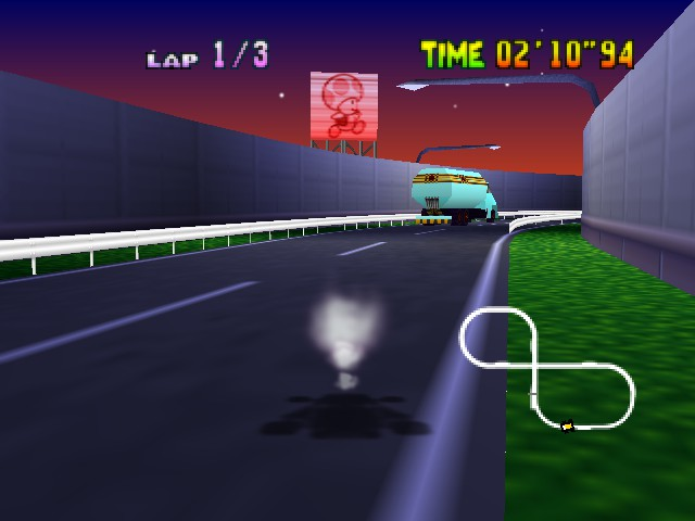 Mario Kart 64 - Level Toad - Wario is invisible... - User Screenshot