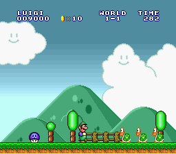 Super Mario All-Stars  Super Mario World - Level  - GET AWAY FROM ME!!! - User Screenshot