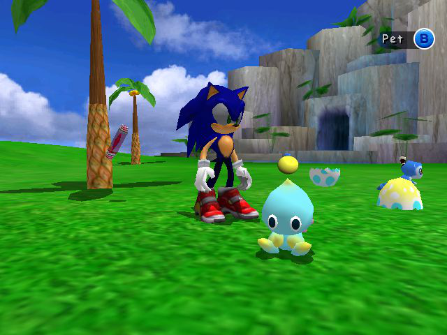 Sonic Adventure 2 - Location  - Chaos are so cute in the garden - User Screenshot