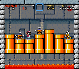 Super Mario World - Battle  - Lemmy Koopa Battle - User Screenshot