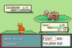Pokemon Burning Ruby - Battle  - Torchic is so tiny! XD - User Screenshot