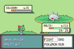 Pokemon Burning Ruby - Battle  - That eye is just freaking creepy. O.o - User Screenshot