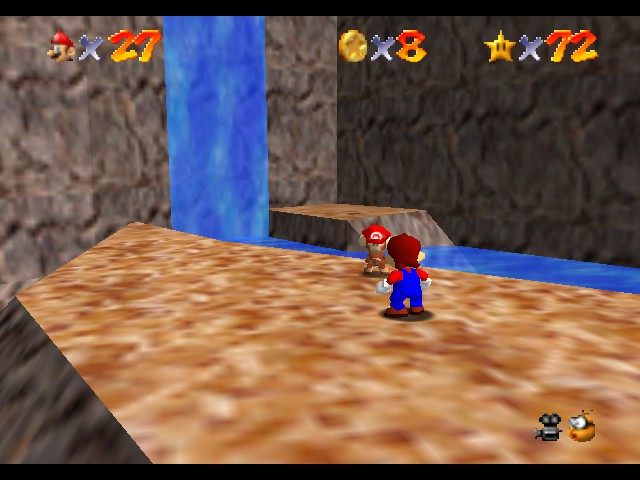 Super Mario 64 - Cut-Scene  - Come back with my cap, Ukiki! - User Screenshot