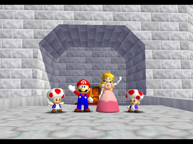 Super Mario 64 - Ending  - Goodbye! - User Screenshot