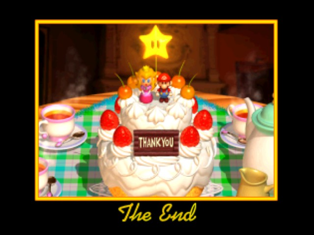 Super Mario 64 - Ending  - Who said anything about the cake being a lie? - User Screenshot