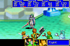 Golden Sun - Battle  - Boss battle with Saturos! - User Screenshot