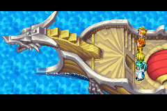 Golden Sun - Ending  - The 4 warriors go off on a journey on sea. - User Screenshot