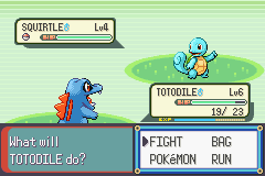 Pokemon Rebirth - Battle  - Shiny Squirtle!  - User Screenshot