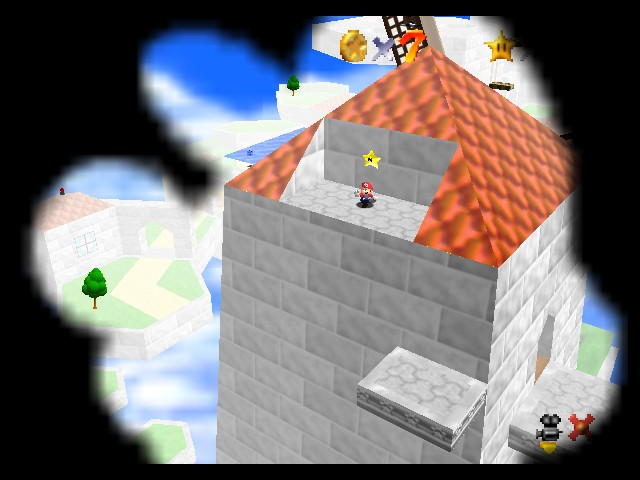 Super Mario Star Road Deluxe - Level Sky Land Resort - Getting the star - User Screenshot
