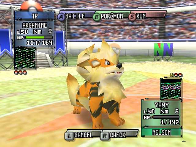 Pokemon Stadium 2 - Battle  - SO CLOSE! - User Screenshot