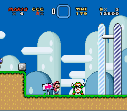 Super Mario World - Level Yoshi - Stop blocking the road... :( - User Screenshot