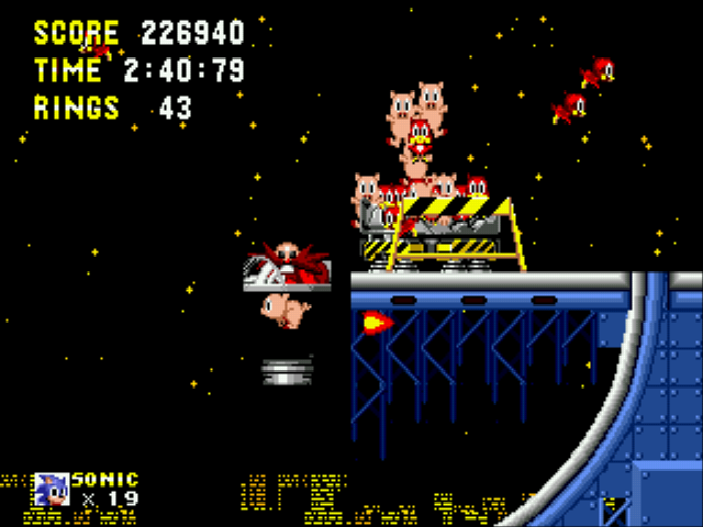 Sonic 1 Megamix (beta 4.0) - Cut-Scene  - eggman on top of a pig.Seems legit - User Screenshot