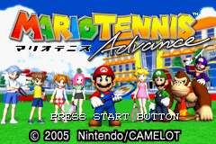 Mario Tennis Advance - Introduction  - Title Screen - User Screenshot