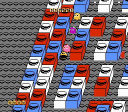 Clyde -Level Block Town:Pac-Man being chased - User Screenshot