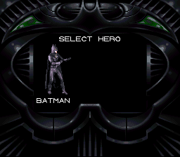 Batman Forever - Character Select  - Select hero: Batman - User Screenshot