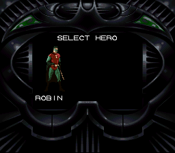 Batman Forever - Character Select  - Select hero: Robin - User Screenshot