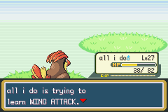 Pokemon Fire Red - Battle  - just let him learn! - User Screenshot