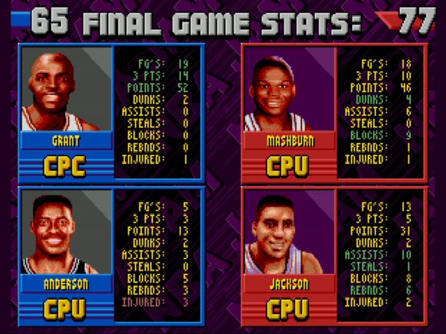 Nba jam tournament edition ending horace grant 52 points but no