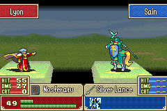Fire Emblem - Sacred Contention - Battle  - Not a good idea Lyon - User Screenshot