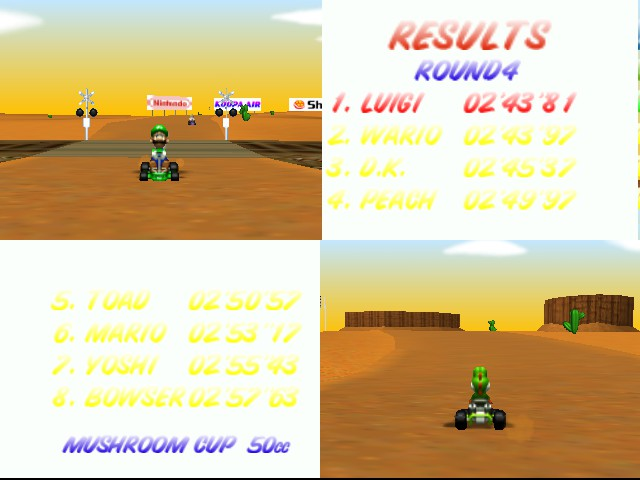 Mario Kart 64 - Level Kalimari Desert - even closer - User Screenshot