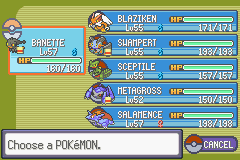 Pokemon Rebirth - Character Profile  - My team - User Screenshot