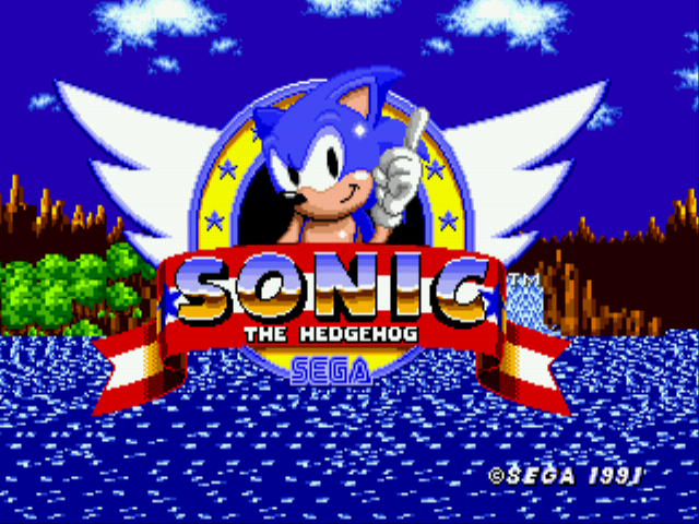 Sonic the Hedgehog - Introduction  - Title Screen! Wish Me Luck - User Screenshot