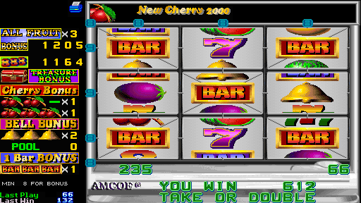 Fruit Bonus 2000 + New Cherry 2000 (Version 4.4E Dual) - Misc Cherry Bonus - Bars! - User Screenshot