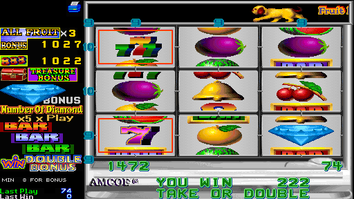 Fruit Bonus 2000 + New Cherry 2000 (Version 4.4E Dual) - Level  - Sevens - User Screenshot