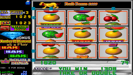 Fruit Bonus 2000 + New Cherry 2000 (Version 4.4E Dual) - Level  - All Fruit! - User Screenshot
