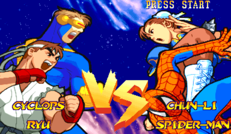 Marvel Super Heroes Vs. Street Fighter (Euro 970625) - Cut-Scene  - Matchup - User Screenshot