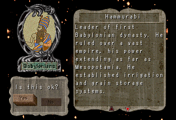 Hammurabi -Character Profile Civilization Leaders:Hammurabi - User Screenshot