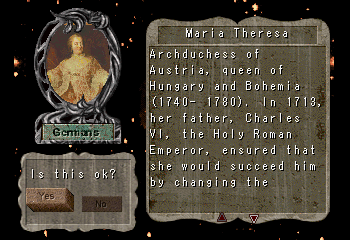 Maria Theresa    -Character Profile Civilization Leaders:Maria Theresa - User Screenshot