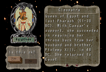 Cleopatra     -Character Profile Civilization Leaders:Cleopatra - User Screenshot