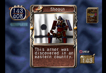 Shogun -Character Profile Monster Card:Shogun - User Screenshot