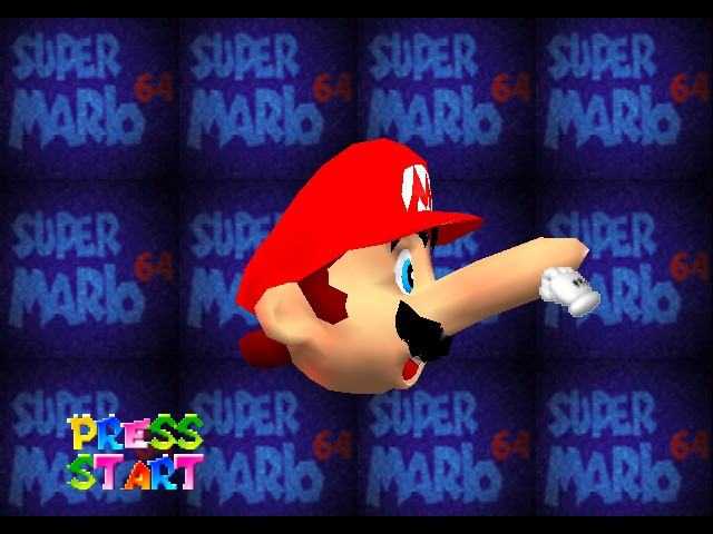 Super Mario 64 - Introduction  - Mario when he sees Peach swimming - User Screenshot