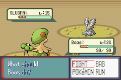 Pokemon Ruby - Battle  - My first shiny Awesome! - User Screenshot