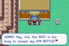 Pokemon Ash Gray (beta 3.61) - How do i get in the gym? - User Screenshot