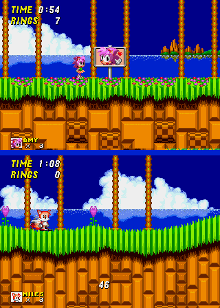 Amy Rose in Sonic the Hedgehog 2 - Cut-Scene  - Hi Amy and Tails! - User Screenshot