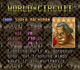 Super Punch-Out!! - Character Profile  - suoper macoman - User Screenshot