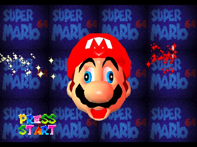 Super Mario 64 - Introduction  - Mario knows how to derp! - User Screenshot