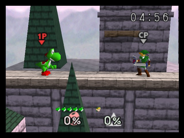 Super Smash Bros. - Battle  - yoshi, just get NESS! - User Screenshot